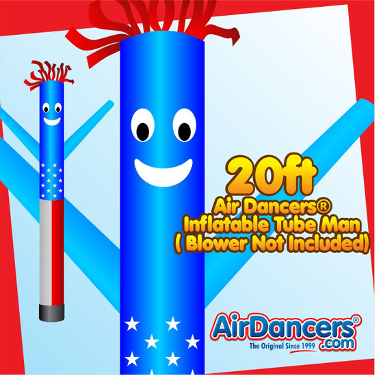 American Flag Air Dancers® Inflatable Tube Man 20ft by AirDancers.com