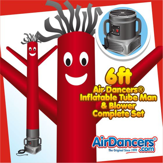 Red Air Dancers® Inflatable Tube Man & Blower 6ft Set