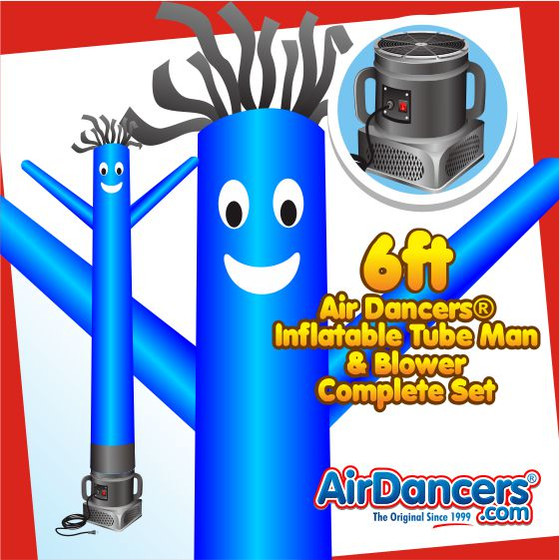 Blue Air Dancers® Inflatable Tube Man & Blower 6ft Set
