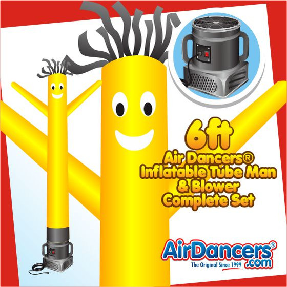 Yellow Air Dancers® Inflatable Tube Man & Blower 6ft Set