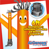 Orange Air Dancers® Inflatable Tube Man & Blower 6ft Set