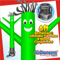 Green Air Dancers® Inflatable Tube Man & Blower 6ft Set