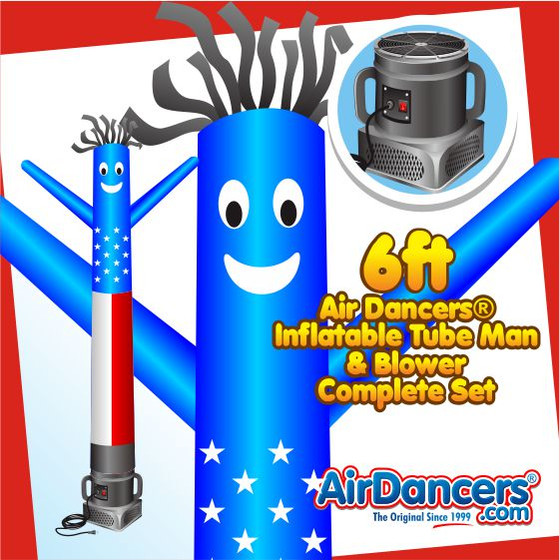 American Flag Air Dancers® Inflatable Tube Man & Blower 6ft Set