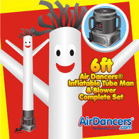 White Air Dancers® Inflatable Tube Man & Blower 6ft Set