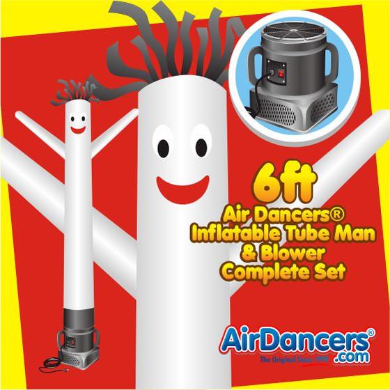 White Air Dancers® Inflatable Tube Man & Blower 6ft Set