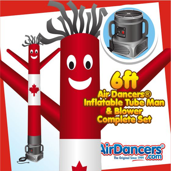 Canadian Flag Air Dancers® Inflatable Tube Man & Blower 6ft Set
