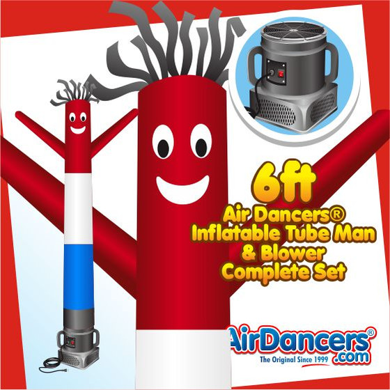 Red, White, & Blue Air Dancers® Inflatable Tube Man & Blower 6ft Set
