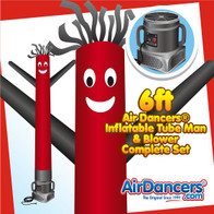 Red & Black Air Dancers® Inflatable Tube Man & Blower 6ft Set