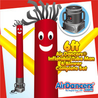 Red & Yellow Air Dancers® Inflatable Tube Man & Blower 6ft Set