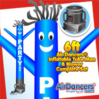Party! Blue Air Dancers® Inflatable Tube Man & Blower 6ft Set