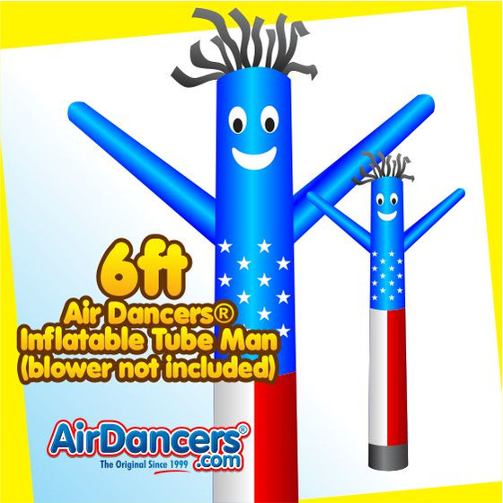 American Flag Air Dancers® Inflatable Tube Man 6ft by AirDancers.com