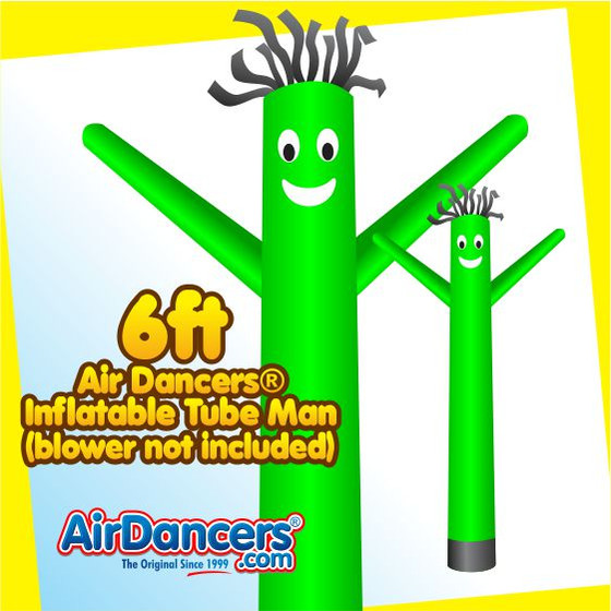 Green Air Dancers® Inflatable Tube Man 6ft by AirDancers.com