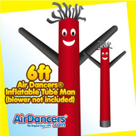 Red & Black Air Dancers® Inflatable Tube Man 6ft by AirDancers.com