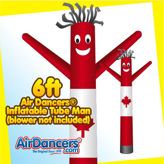 Canadian Flag Air Dancers® Inflatable Tube Man 6ft