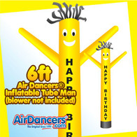 Happy Birthday Air Dancers® Inflatable Tube Man 6ft