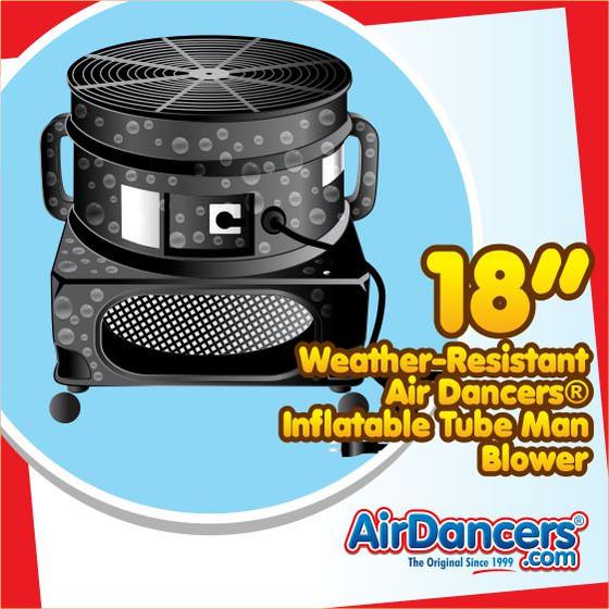 Air Dancers® Inflatable Tube Man Weather Resistant Blower - 18inch Diameter