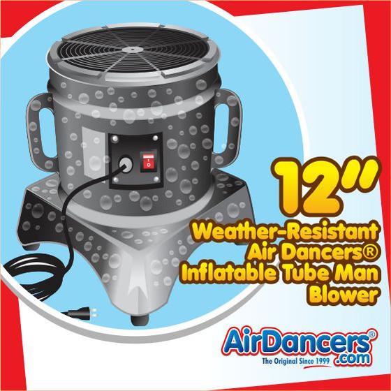 Air Dancers® Inflatable Tube Man Weather Resistant Blower - 12inch Diameter