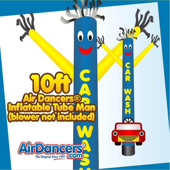 Car Wash Shape Air Dancers® Inflatable Tube Man 10ft