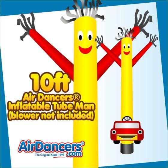 Car Shape Air Dancers® Inflatable Tube Man 10ft