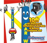 Car Wash with Car Shape Air Dancers® Inflatable Tube Man & Blower Set 10ft