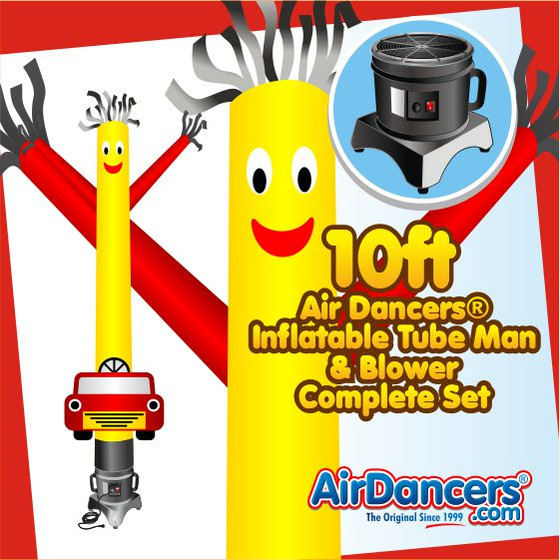 Car Shape Air Dancers® Inflatable Tube Man & Blower Set 10ft
