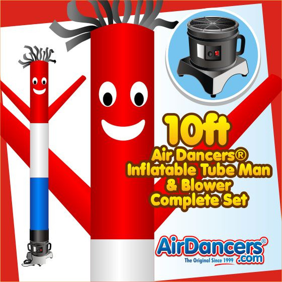 Red, White, & Blue Air Dancers® Inflatable Tube Man & Blower 10ft Set