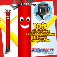 Red with Yellow Arms Air Dancers® Inflatable Tube Man & Blower 10ft Set