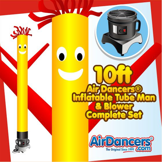 Yellow with Red Arms Air Dancers® Inflatable Tube Man & Blower 10ft Set