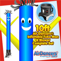 Blue with Yellow Arms Air Dancers® Inflatable Tube Man & Blower 10ft Set