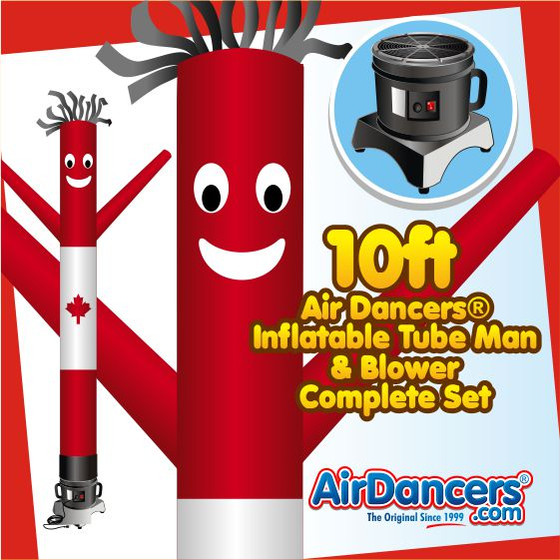 Canadian Air Dancers® Inflatable Tube Man & Blower 10ft Set