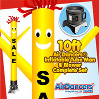 Yellow Sale with Black Letters Air Dancers® Inflatable Tube Man & Blower 10ft Set
