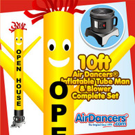 Yellow Open House Air Dancers® Inflatable Tube Man & Blower 10ft Set