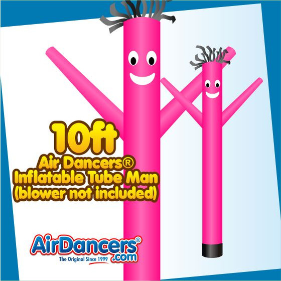 Pink Air Dancers® Inflatable Tube Man 10ft Attachment