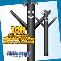 Black Air Dancers® Inflatable Tube Man 10ft Attachment