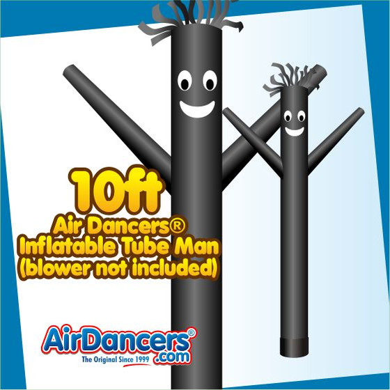 Black Air Dancers® Inflatable Tube Man 10ft Attachment