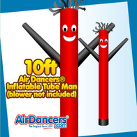 Red Black Air Dancers® Inflatable Tube Man 10ft Attachment