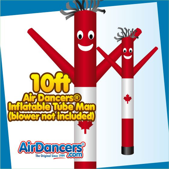 Canadian Flag Air Dancers® Inflatable Tube Man 10ft Attachment