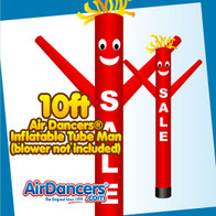 Red SALE Air Dancers® Inflatable Tube Man 10ft Attachment