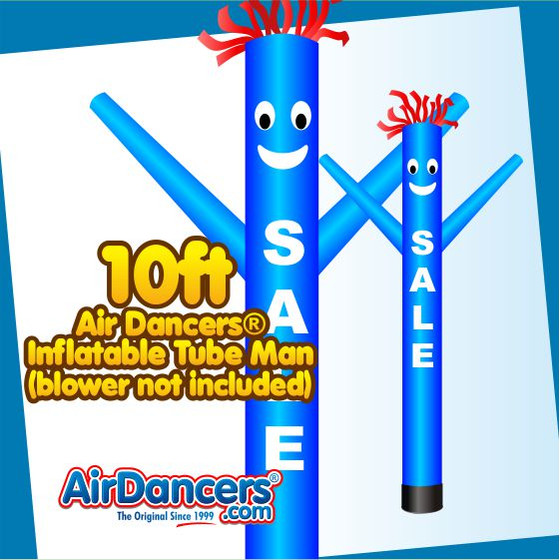 Blue SALE Air Dancers® Inflatable Tube Man 10ft Attachment