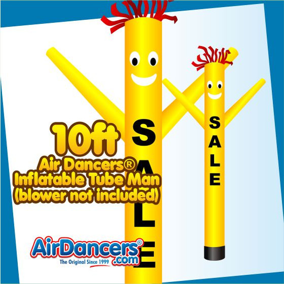 Yellow SALE Air Dancers® Inflatable Tube Man 10ft Attachment