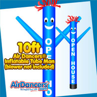 Blue OPEN HOUSE Air Dancers® Inflatable Tube Man 10ft Attachment