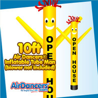 Yellow OPEN HOUSE Air Dancers® Inflatable Tube Man 10ft