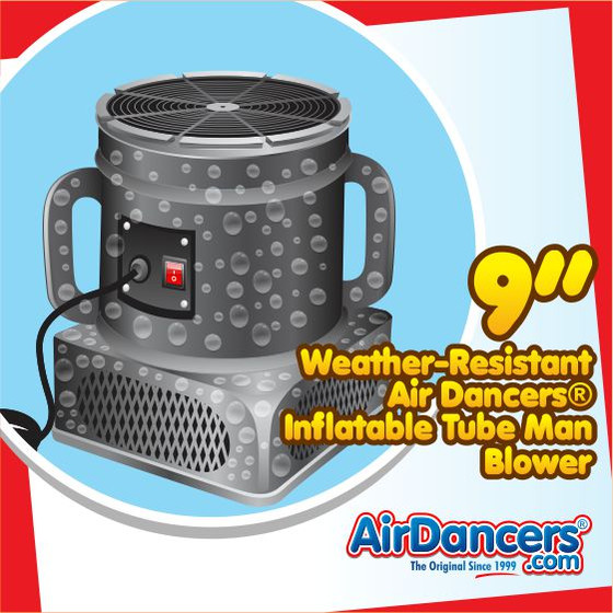 Air Dancers® Inflatable Tube Man Weather Resistant Blower - 9inch Diameter