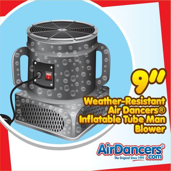 Air Dancers® Inflatable Tube Man Weather Resistant Blower - 9inch Diameter