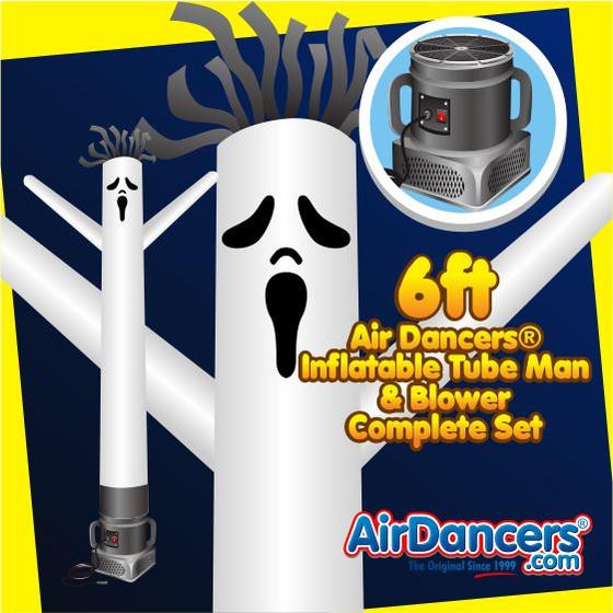 Halloween Ghost Air Dancers® Inflatable Tube Man & Blower 6ft Set