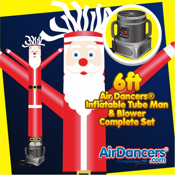 Santa Air Dancers® Inflatable Tube Man & Blower 6ft Set