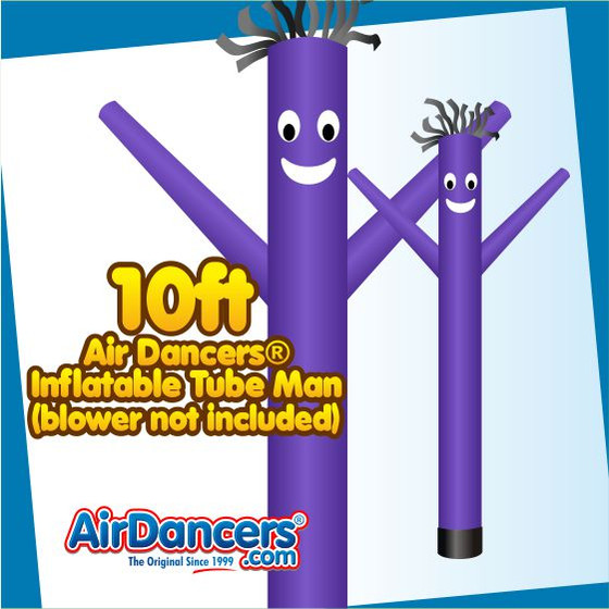 Purple Air Dancers® Inflatable Tube Man 10ft Attachment