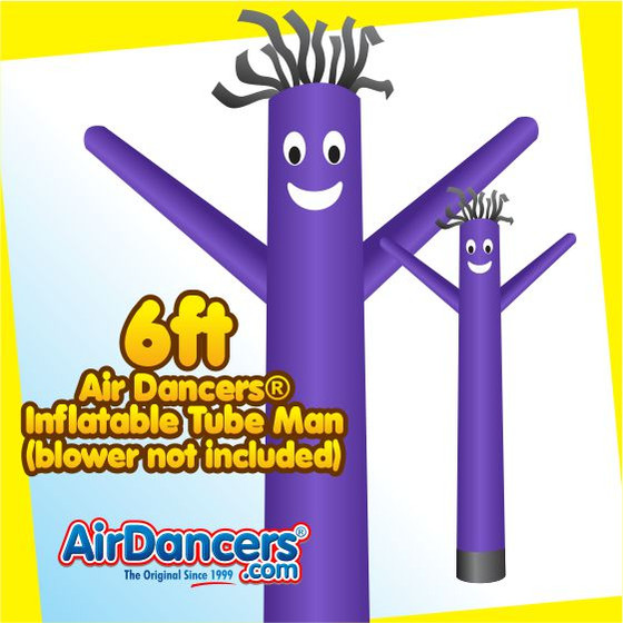 Purple Air Dancers® Inflatable Tube Man 6ft