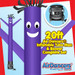 Purple Air Dancers® inflatable tube man & Blower Set 20ft