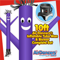 Purple Air Dancers® Inflatable Tube Man & Blower 10ft Set